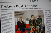 The Jeremy Days im Hamburger Abendblatt